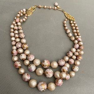 Jewelry - Vintage Faux Pearls & Marble Vendome Necklace
